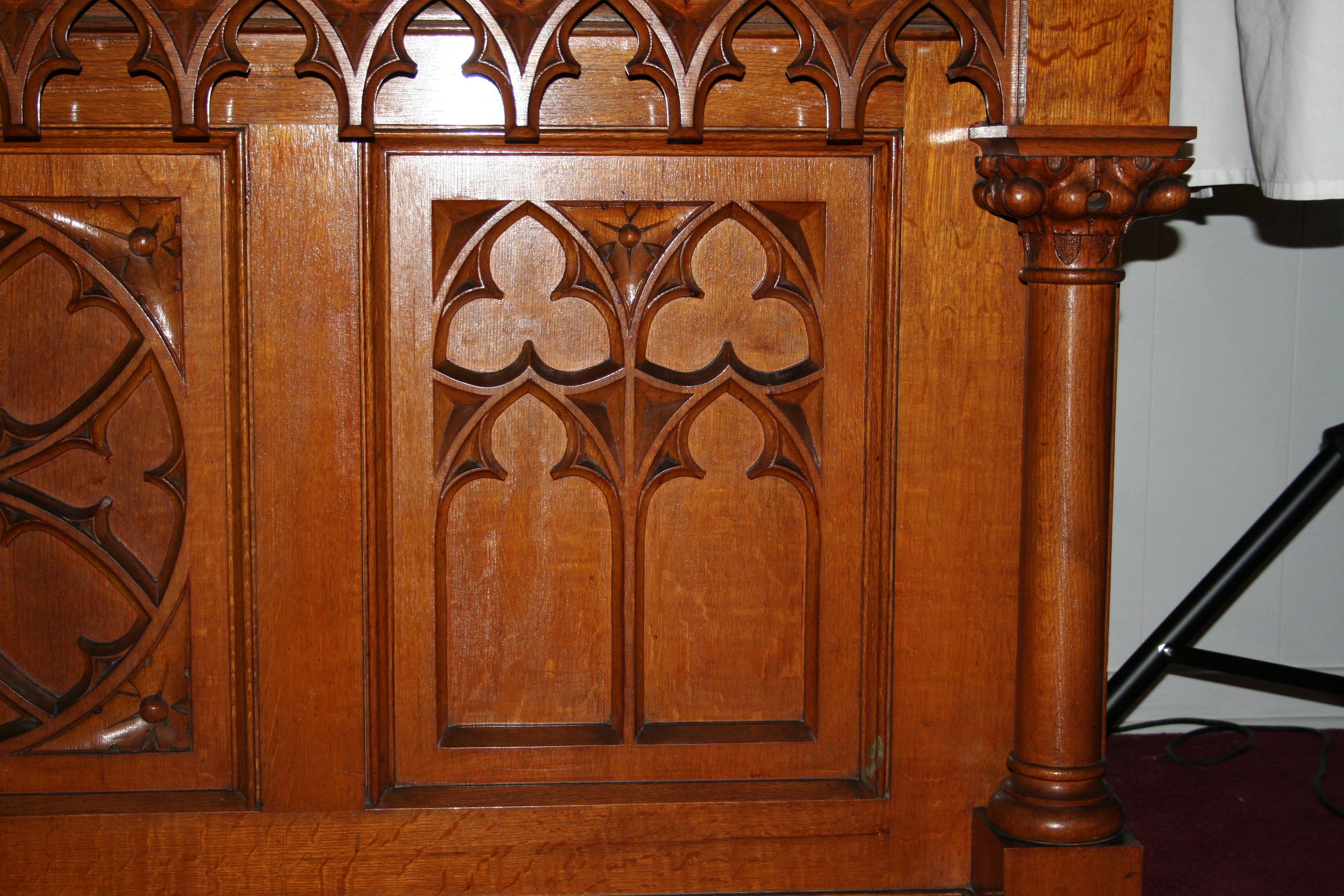 Hand-carved altar