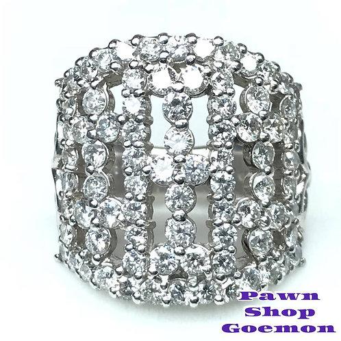 ダイヤモンド2.84ct Pt900 プラチナ リング 11号