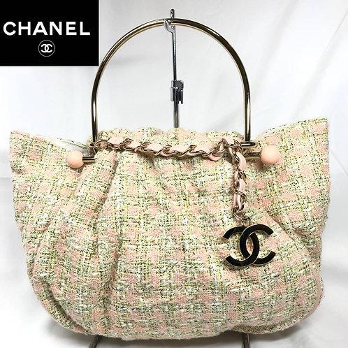 CHANEL シャネル ツイード ハンドバッグ