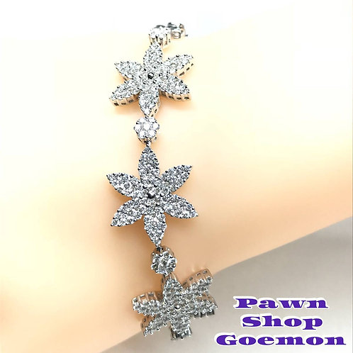 ダイヤモンド 5.00ct WGK18 ホワイトゴールド ブレスレット