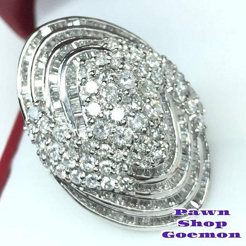 ダイヤモンド5.00ct PT900 リング