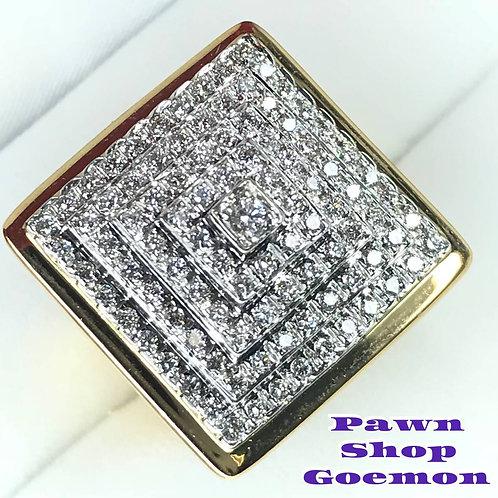 ダイヤモンド 0.80ct YGK18 ゴールドリング