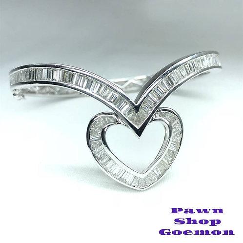 ダイヤモンド 8.10ct K18ホワイトゴールド ブレスレット