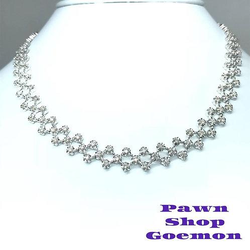 ダイヤモンド 3.00ct WGK18 ホワイトゴールド ネックレス