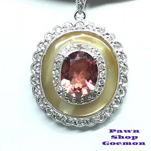 トルマリン 2.23ct ダイヤモンド 0.70ct ネックレス