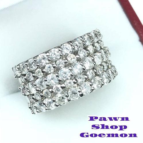 ダイヤモンド 3.00ct pt900 プラチナ リング 13号