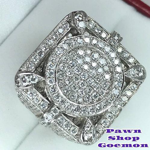 ダイヤモンド 8.00ct PT900 プラチナ リング