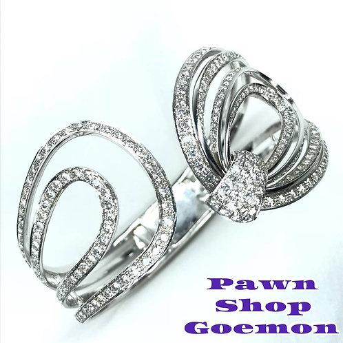 ダイヤモンド 5.81ct WGK18 ホワイトゴールド ブレスレット