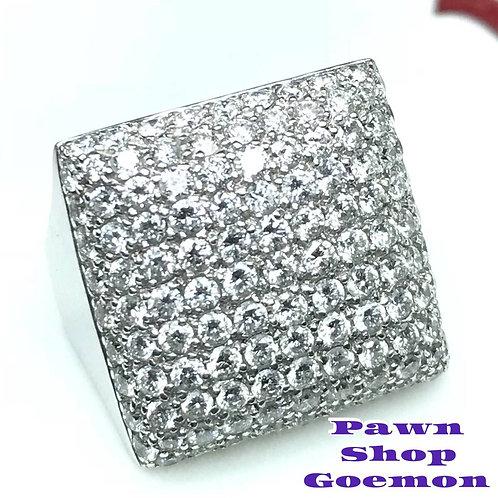 ダイヤモンド2.45ct WGK18 ホワイトゴールド リング 14号