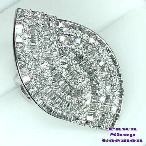 ダイヤモンド5.00ct Pt900 プラチナリング 12号