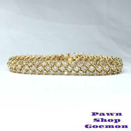ダイヤモンド 10.00ct K18 イエローゴールド ブレスレット