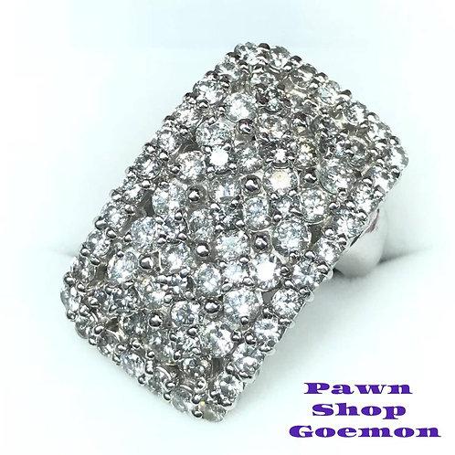 ダイヤモンド 3.12ct pt900 プラチナ リング 12号