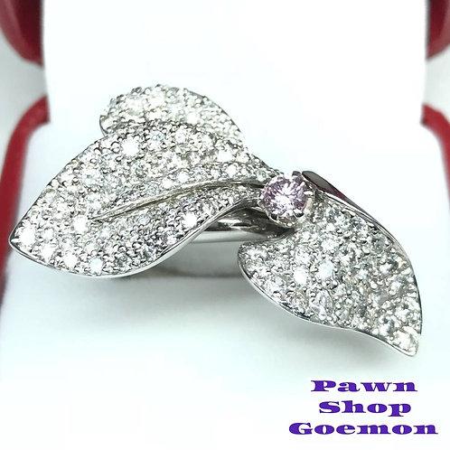 ピンクダイヤモンド0.241ct ダイヤモンド2.93ct WGリング