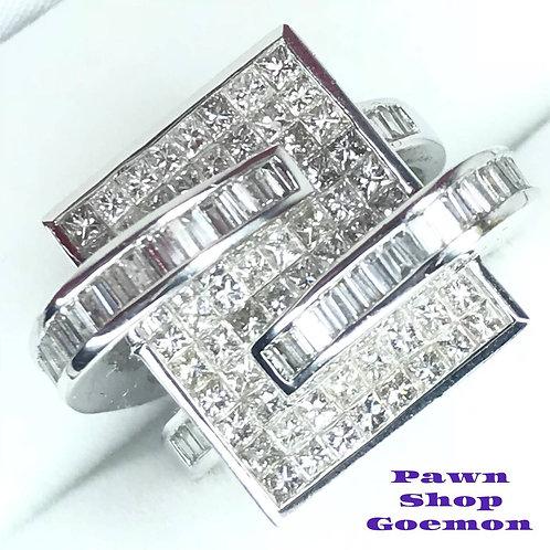 ダイヤモンド2.10ct WGK18 リング
