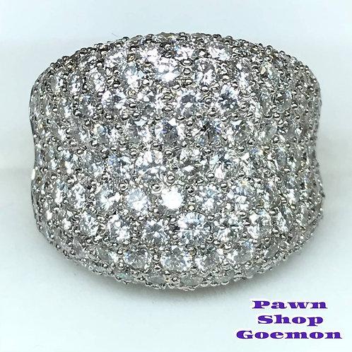ダイヤモンド4.68ct WGK18 ホワイトゴールド リング 13号