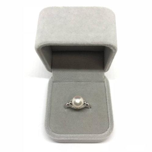 パール 本真珠 ダイヤモンド プラチナ900 リング