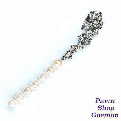 ダイヤモンド2.00ct アコヤ真珠 WGK18 ネックレストップ