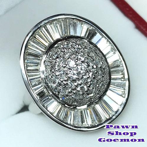 ダイヤモンド 3.15ct pt900 プラチナ リング 12号