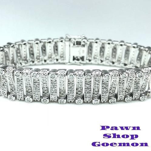 ダイヤモンド 3.65ct WGK18 ブレスレット