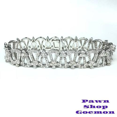 ダイヤモンド4.00ct WGK18 ホワイトゴールド ブレスレット