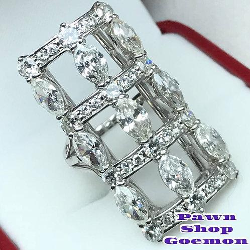 ダイヤモンド5.45ct Pt900 プラチナリング 14号