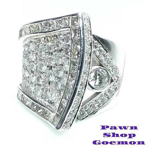 ダイヤモンド 2.651ct Pt900 プラチナリング 14号