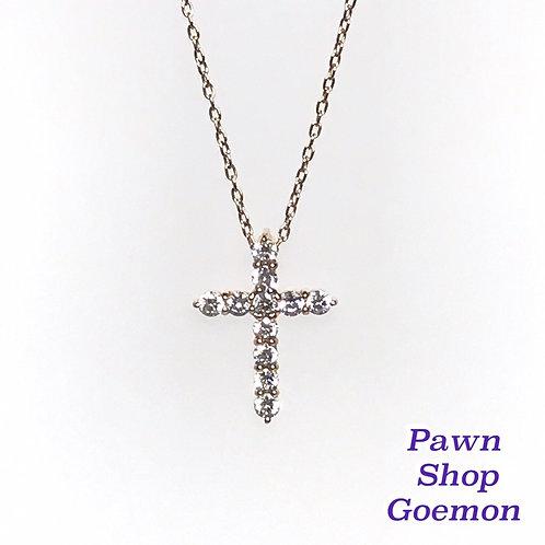 ダイヤモンド K18 ピンクゴールド ネックレス