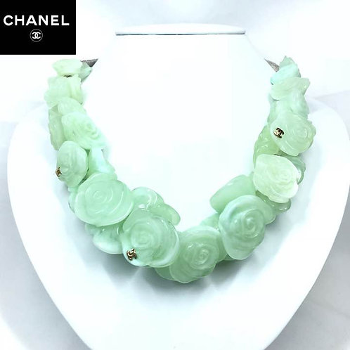 CHANEL シャネル Camellia Floral Resin Tie on Necklace