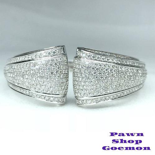 ダイヤモンド WGK18 ホワイトゴールド バングル