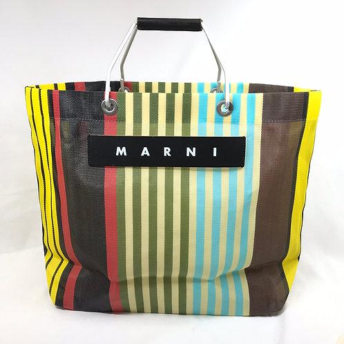 MARNI FLOWER CAFE ストライプバッグ マルチイエロー