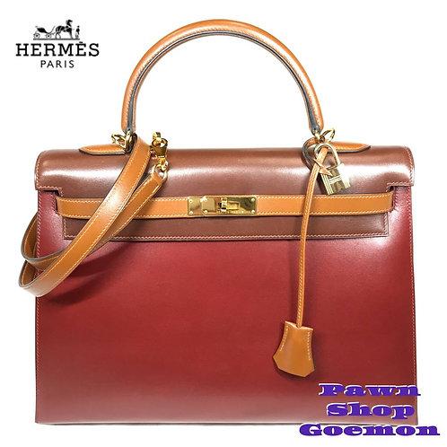 HERMES ハンドバッグ ケリー 35 外縫い