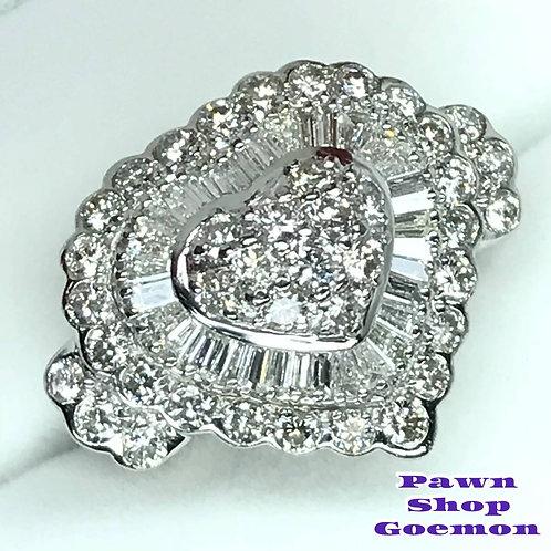 ダイヤモンド2.00ct PT900 プラチナリング