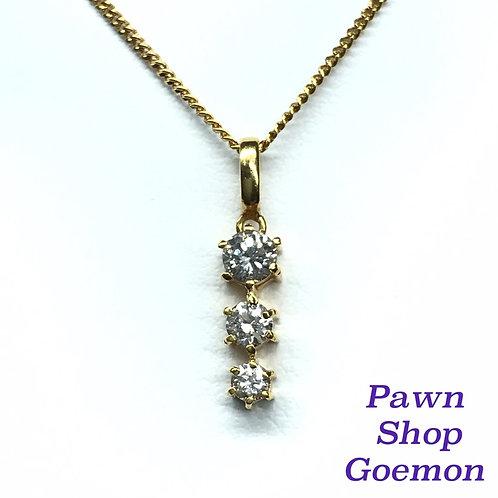 ダイヤモンド0.34ct K18ネックレス