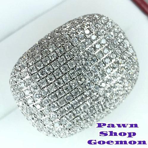 ダイヤモンド 10.00ct PT900 プラチナリング 13号