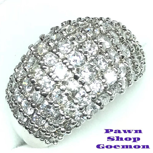ダイヤモンド2.68ct Pt900 プラチナリング 12号