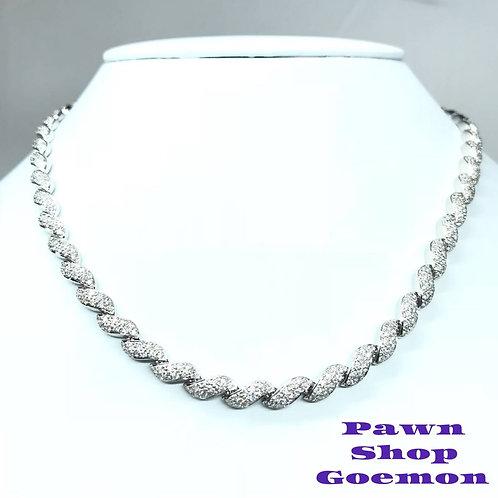 ダイヤモンド 5.00ct ホワイトゴールドK18 ネックレス