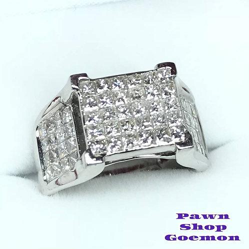 ダイヤモンド WGK18 ホワイトゴールド リング 11号