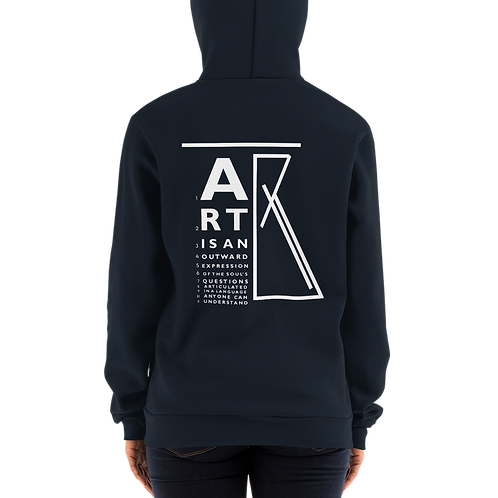 """Art Is..."" eye chart Zip Hoodie"