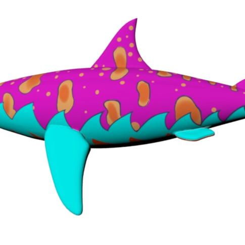 Side view Shark Puppet
