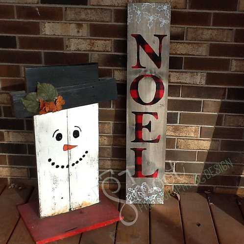 Noel/Welcome double-sided sign