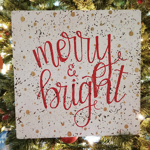 Merry & Bright corkboard