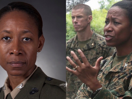 The First  United States Marine Corps Female Black General