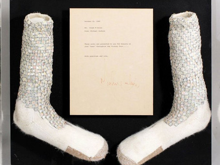 Socks Worn by Michael Jackson During his First Ever Moonwalk Up for Auction