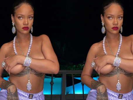 Rihanna Sparks Outrage for Wearing Hindu Pendant in Topless Photo