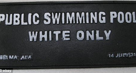 'White Only' Signs For Sale At A Colorado Antique Store..Owner Refuses To Remove Them!