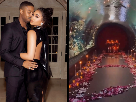 Michael B. Jordan Rented Out an Aquarium For First Valentine's Day With Lori Harvey