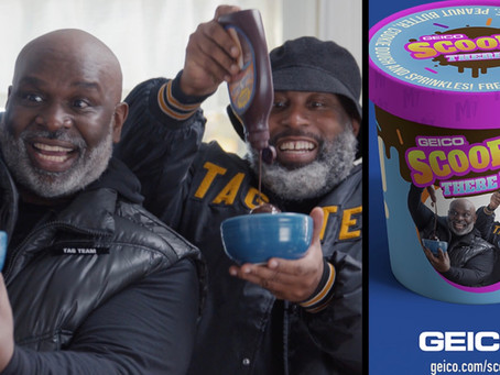 'Scoop, There It Is!' Geico Turns Tag Team Commercial Into A Real-Life Ice Cream