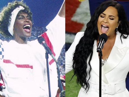 Super Bowl Fans Are Comparing Demi Lovato's National Anthem Performance to Whitney Houston's
