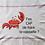 Thumbnail: Torchon Crabe T'es Cap de faire la vaisselle