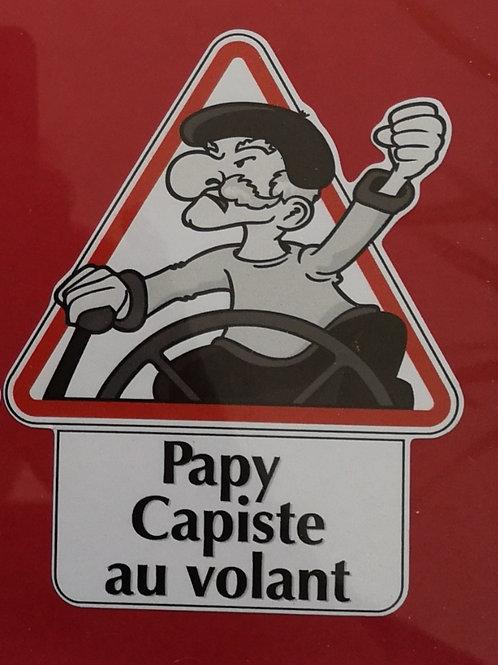 Autocollant Papy capiste au volant